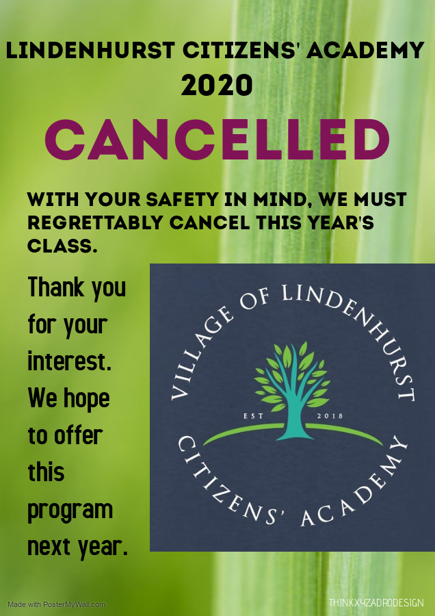 Lindenhurst Citizens' Academy 2020 Cancelled due to COVID-19